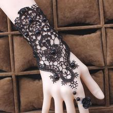 Fashion Jewelry Bracelet Gothic Handmade Black Lace Bracelets&Bangles For Women Vintage Sexy Party Bracelet Gift Y4