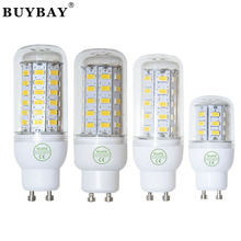 BUYBAY led lamp 220V GU10 SMD 5730 24LED 36LED 48LED 56LED Bulb 110V led corn bulb white/warm white light chandelier lamp gu10