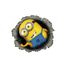 Despicable Me Minions Cute Funny Cartoon Glue Sticker Car Decal Covers Waterproof Reflective on fuel tank Car Fuel Cap Stickers