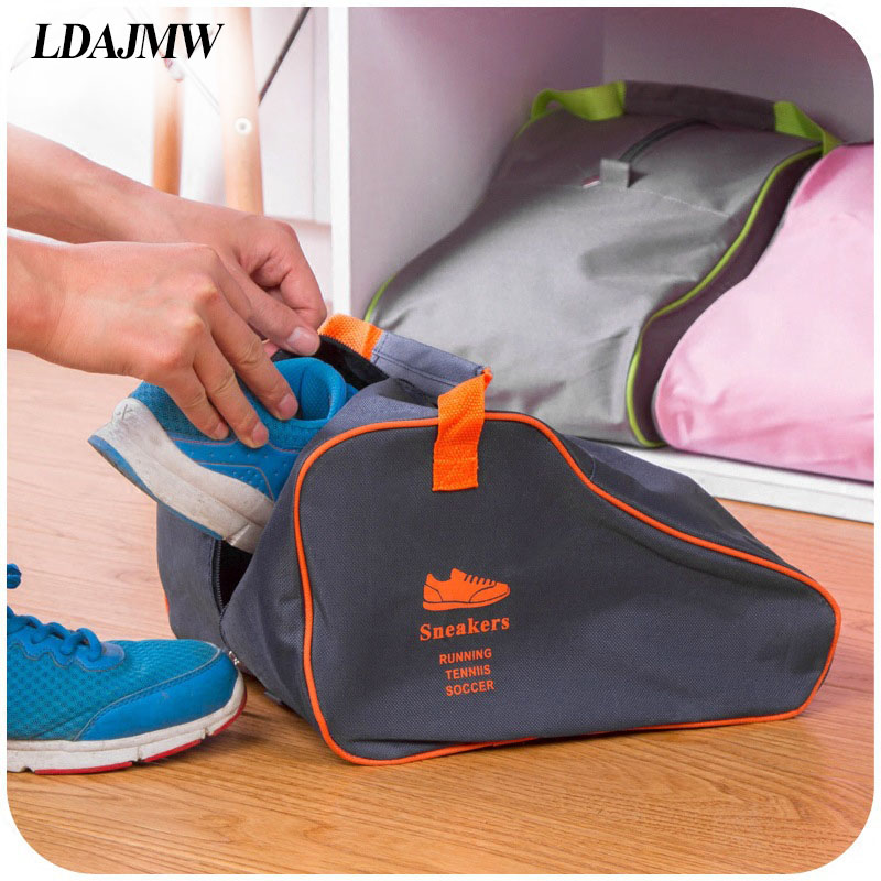 LDAJMW Hot Men and Women Boots Shoes storage Bags Creative Home Finishing Chosen Folding Portable Travel Shoes Organizer(China (Mainland))