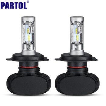 S1 Partol H4 9003 HB2 CSP LED Conversion De Phare De Voiture Kit Salut-Lo faisceau 50 W 8000LM 6500 K Brouillard Lampe Ampoule pour VW AUDI FORD KIA TOYATO
