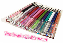 Diamond on top swarovski pen Metal case Crystal Pen wedding gift swarovski elements Crystal Ballpoint Pen for xmas new year gift