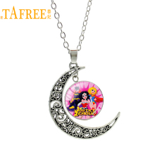 TAFREE Wholesale Wonder Woman Necklace cute cartoon Fencing pendant men women fashion moon charms new novelty jewelry H688