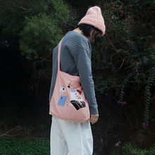 "KOMESHOP printed handbag & shoulder & crossbody bag in ""what ghost"" series (FUN KIK)"