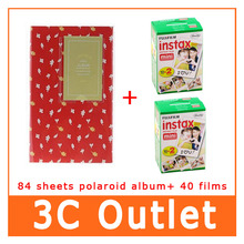 40 Sheets Fujifilm Instax Film + 84 Sheets 3 Inch Photo Frame , For Instax Mini7s 70 8 25 50S 90