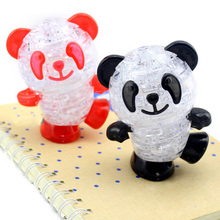 3D Crystal Panda Puzzle Toys Kids Puzzle Jigsaw Model DIY Panda Intellectual Toy Furnish Gadget for Children Gift