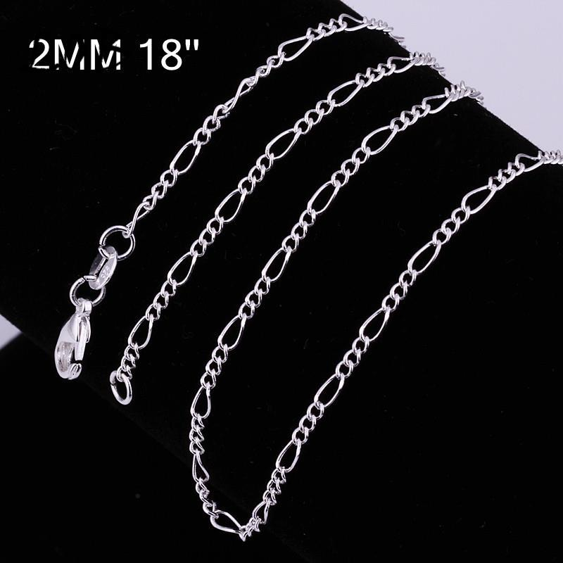 C013-18 Hot sale fashion different sizes silver snake chain