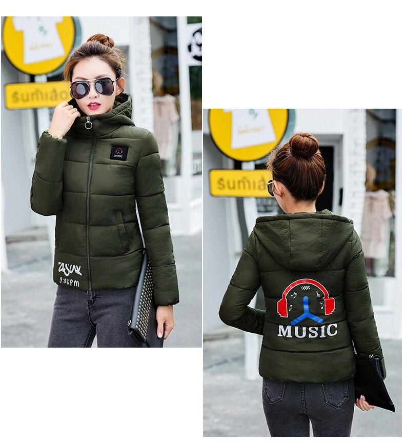 Autumn new feather cotton Outerwear short bread clothes female cotton clothing Korean Slim large size women winter coat OKXGNZ