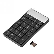 USB 2.4G Wireless Numeric Keypad 23 Keys Small Mini Keyboard With Calculator Key For Accounting Tablet Laptop Desktop