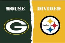 Green Bay Packers VS Pittsburgh Steelers House Divided 3ftx5ft Flags Flag 100D Polyester Flag Metal Eyelets(China)