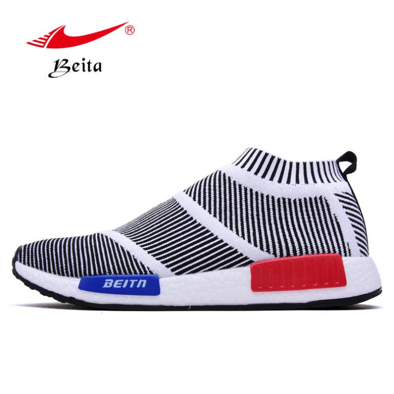 Beita New Flying Weave Super Light Mens Running Shoes Athletic Sneakers Breathable Sport Shoes WalkingCausal Shoes BT6812<br><br>Aliexpress
