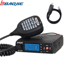 Baojie BJ-218 25W Power Mini Mobile Radio Dual Band VHF UHF 136-174 400-470MHz For Car Bus Taxi Radio With USB Programming Cable