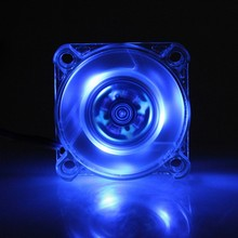 2 Pieces/lot Gdstime Blue 40x40x10mm 4010S Computer PC 12V 40mm LED Cooling Fan(China)