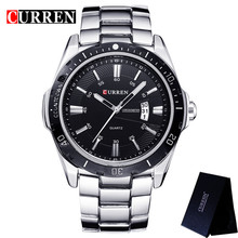 relogio CURREN Top Brand Luxury Mens Watches Male Date Business Clocks Sport Military Clock Steel Quartz Men Watch Box 8110