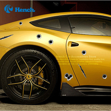 New Car Styling Realistic Bullet 23*29cm car accessories Fake Bullet Holes Hole Stickers Funny New Creative Personality Car