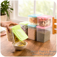 Kitchen Flip Food Storage Box Organizer Storage Tank Airtight Containers Sealed Home Organizer Of Whole Grains