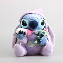 NEW Lilo & Stitch Plush Toys Plush Toys Stich Holding Scrump Soft Stuffed Animal Dolls Kids Toys 26 CM
