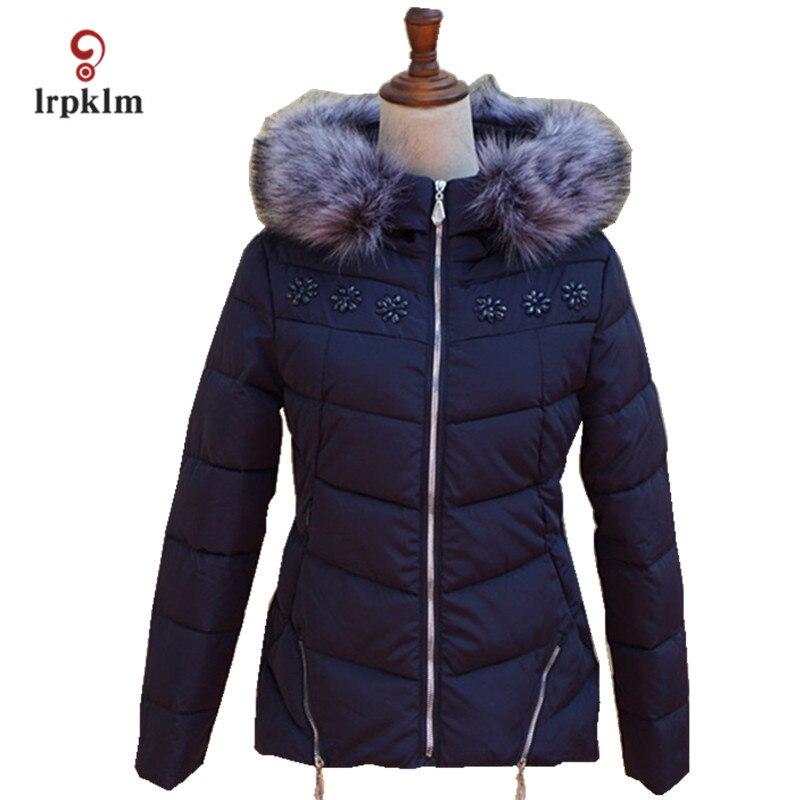 2017 New Fashion Women Winter Jackets Female Fur Hooded Collar Slim Parkas Women Warm Cotton Padded Coat 6 Color PQ045Îäåæäà è àêñåññóàðû<br><br>