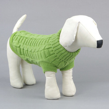 Candy Color Small Pet Dog Knitwear Outdoor Warm Puppy Coats Sweater Clothes Jumper