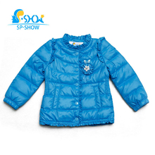 2018 New Autumn And Winter Girls Jacket Light Jackets White Duck Down Russian Style Fashion Coat For 2-6 Age Down & Parkas 68011(China)