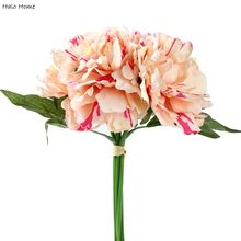 1 Bunch Silk Artificial Flower Peach Peony For Home Wedding Celebrations Party Garden Public places Festival Decor