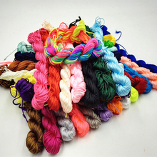 Hot Sale 16 Color Nylon Cord Thread Chinese Knot Macrame Rattail 1mm*25M For DIY Bracelet Braided(China)