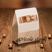 30psc joyful golden champagne wedding candy box souvenir paper boxes gift bag wedding decoration table wedding favors and gifts
