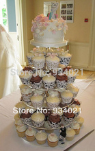 6 tier acrylic wedding cake stand, lucite acrylic cupcake display stand party decoration