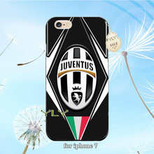 juventus logo sports lovely plastic hard phone accessories case for iphone 4s 5c 5s se 6 6plus 7 7plus cover case
