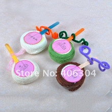 PROMOTION!FREE SHIPPING by EMS,100%Cotton,cake towel,lollipop Towel,wedding favor,best gift in children's Day,50pcs/lot