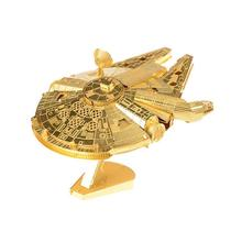 SAINTGI star wars Etching Trek Space ship 3D metal model Enterprise NCC1701 action figure DIY collection model kids toys