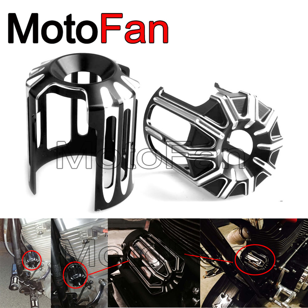 Motorcycle Oil Filter Cover Machine Oil Grid CNC Aluminum For Harley Davidson Dyna Street Bob Roadster Cvo Limited Softail Slim<br>