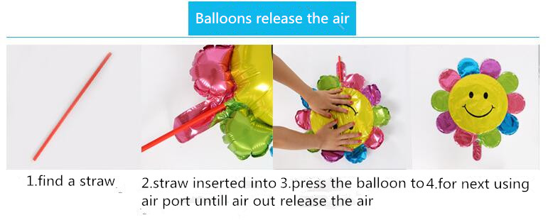 ballons release the air