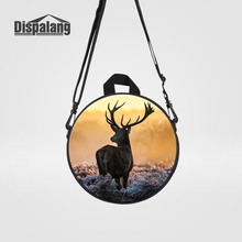 Dispalang Children's Gifts Elk Printed Round Back Pack For School Mini Circular Messenger Bags Kids Toddler Baby Travel Rucksack