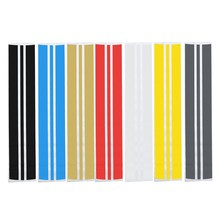 Car Auto Hood Scratched Stickers Engine Cover Styling Reflective Decal Stripe Vinyl DIY Decoration 130cm*25cm(China)