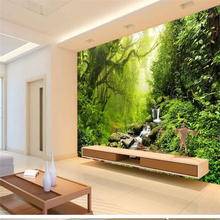 beibehang Personalized custom wallpaper landscape green forest sofa bedroom TV backdrop papel de parede infantil menina