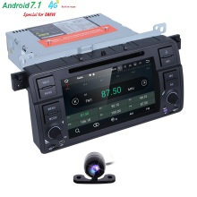 Buy 2017 Stock Car DVD Player BMW E46 Navigation Android7.1 Wifi 4G 3G GPS Bluetooth Radio RDS USB SD Free 8GB SD Map DVR CAM for $312.00 in AliExpress store