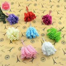 Cheap 144pcs Foam Artificial Curly Stamen Bacca Flower For Wedding Car Decoration DIY Decorative Floristry Supplies Fake Flowers(China)