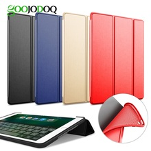 Case For iPad Air 2 / Air 1 Silicone Magnetic Case for iPad Air Smart Cover Soft TPU Case PU Leather Flip Stand Auto Sleep/Wake(China)