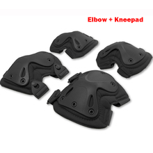 5 Color Airsoft Tactical Adjustable Knee & Elbow Protective Pads Set Protector Gear Sports Hunting Shooting Pads Good Quality(China)