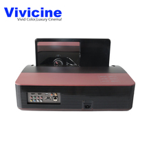 Vivicine 1080p Ultra Short Throw Projector,Android WIFI Portable Fisheye Lens Home Theater Multimedia Video Projectors TV Beamer