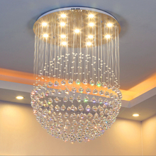 Modern luxury Ceiling Lights LED crystal lamp room bedroom lamp hanging round creative restaurant opm1(China)