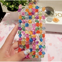 Fashion Summer ice Crystal Clear Stone Case for Apple iPhone 7 Plus 6s Plus 5s 4s 4 Bling Shiny Style Case