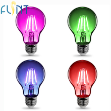 energy saving Edison LED filament bulb E26 pink red blue green LED party bulb 4W 100-240V colorful LED light lamp free shipping(China)