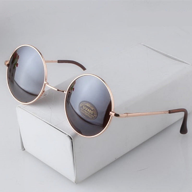 Fashion Round Sunglasses Men Women Vintage Circle Male Female Gold Sun Glasses For Women Men Brand Designer Mirror Goggles<br><br>Aliexpress