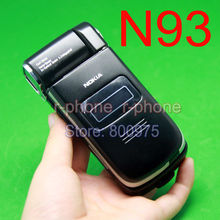 Original NOKIA N93 3.2MP móvel celular GSM tri-band MP3 wi fi Bluetooth 3 G Smartphone preto & Gift