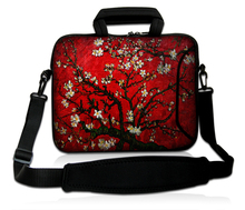 "10""13""14""15""17"" Computer Shoulder Sling Forder Blooming Little Flowers Type Neoprene Notebook  Portable Carring Case For BenQ HP"