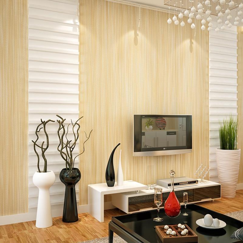 Beibehang Modern simple plain color linen wave point striped 3D wallpaper living room restaurant desktop background 3D wallpaper<br>
