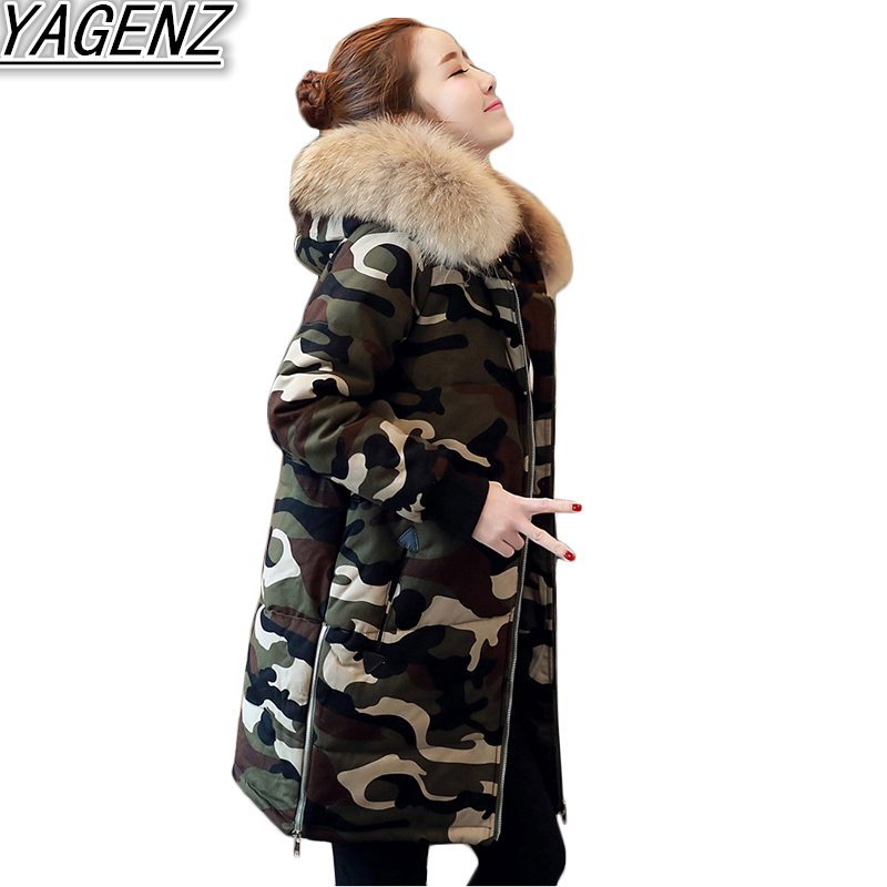 2017 Fashion Winter Jacket Coat Women Camouflage Cotton Overcoat Women's Thick Warm Cotton Coat Female Hooded Down Cotton Jacket