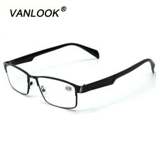 Men's Reading Glasses Stainless Steel Farsightedness +100 +125 +150 +175 200 +225 +250 +275 +300 +325 +350 Black Gunmetal Gold(China)